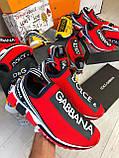Кроссовки мужские Dolce & Gabbana D7944 красные, фото 10