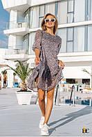 Короткое свободное платье женское из шифона