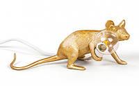 "Світильник ""Миша"" Liyng down золота, фото 1"