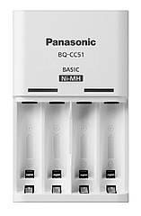 Зарядное устройство Panasonic для аккумуляторов на 2/4 батареи BQ-CC51E AA/AAA Eneloop ready LED индикатор