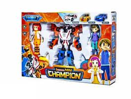 """Детский игровой набор \""""Champion Q1909\"""" из серии \""""Тобот\"""" с роботом-трансформером, игровыми фигурками героев и машинками"""