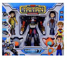 """Детский игровой набор \""""Q1906 Тритан\"""" из серии \""""Тобот\"""" с роботом-трансформером и игровыми фигурками героев"""