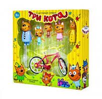 """Детский игровой набор N73 из серии \""""Три Кота\"""" с фигурками героев и велосипедом"""