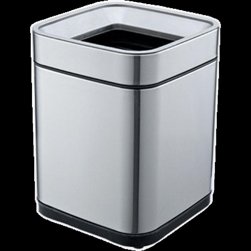 Ведро для мусора JAH 15 л серебряный металлик без крышки с внутренним ведром