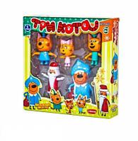 """Детский игровой набор PS652 из серии \""""Три Кота\"""" с фигурками героев в новогодних костюмах"""