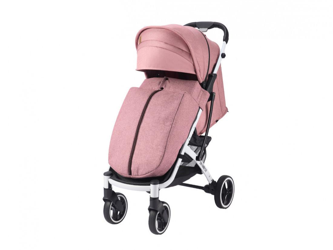 Прогулочная Коляска Dearest 818 Plus Пурпурно-Розовая, рама белая