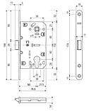 Механізм для дверей під циліндр AGB Evolushion матовий хром, фото 2