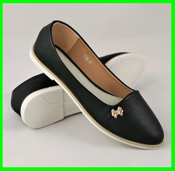 .Женские Балетки Черные Мокасины Туфли (размеры: 36,38,40,41) - 19