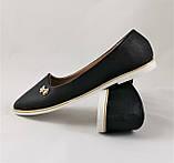 .Женские Балетки Черные Мокасины Туфли (размеры: 36,38,40,41) - 19, фото 5