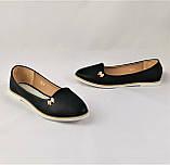 .Женские Балетки Черные Мокасины Туфли (размеры: 36,38,40,41) - 19, фото 6
