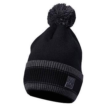 Мужская шапка с бубоном чёрный