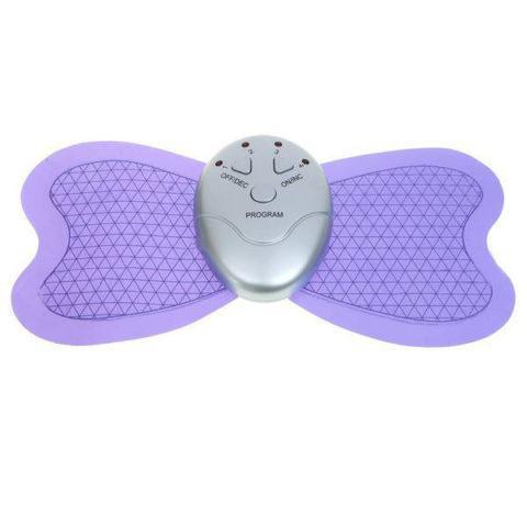 Массажер-миостимулятор для мышц тела (живота, ягодиц, пресса) Бабочка (большая, фиолетовая) для похудения (GK)