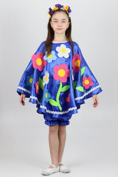 Карнавальный костюм Весна-Лето цвет электрик