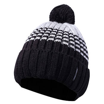 Вязаная мужская шапка с бубоном 44