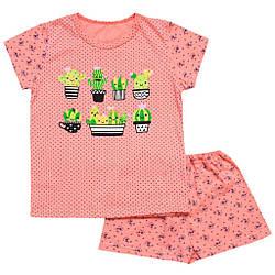 Летняя пижама для девочки Кактусы