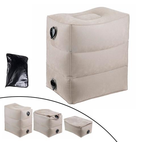Подушка надувная для путешествий 3 уровня пуфик под ноги, гермомешок
