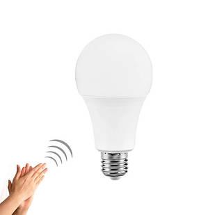 Лампа светодиодная с датчиком звука и освещенности E27, 9Вт LED