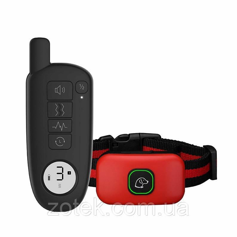 Электроошейник DT-877 для дрессировки собак, электронный ошейник аккумуляторный с экраном