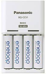 Зарядное устройство Panasonic с аккумуляторами BQ-CC51E+BK3MCCE AA/AAA Eneloop ready LED индикатор