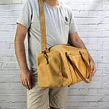 Дорожная сумка cube long желтая из натуральной кожи crazy horse, фото 3