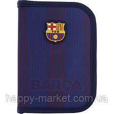 Пенал без наполнения Kite Education 1 отделение 2 отворота FC Barcelona BC20-622