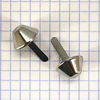 Ножка для сумки 15 мм никель a6609 (200 шт.)