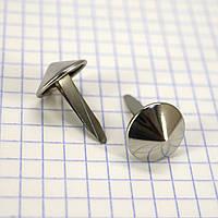 Ножка для сумки 15 мм никель a6619 (200 шт.)