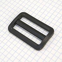 Регулятор пряжка перетяжка 38 мм пластиковая черная для сумок a3629 (100 шт.)