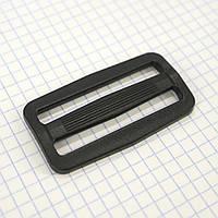 Регулятор пряжка перетяжка 50 мм пластиковая черная для сумок a3630 (20 шт.)
