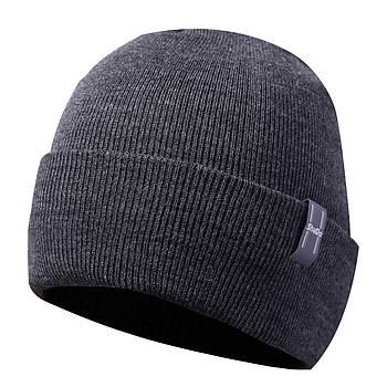Мужская шапка тёмно-серый