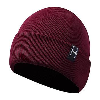 Мужская шапка бордовый