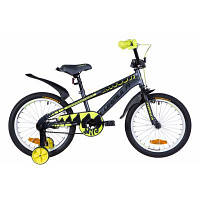 """Детский велосипед Formula 18"""" WILD рама-9"""" St 2020 серо-желтый с черным (OPS-FRK-18-068)"""
