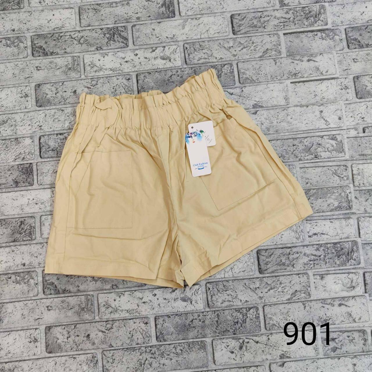 Высокие стильные шорты на резинке (42-44)