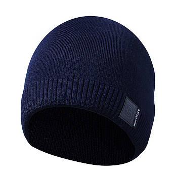Зимняя мужская шапка синяя