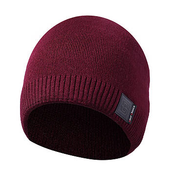 Зимняя мужская шапка бордовая