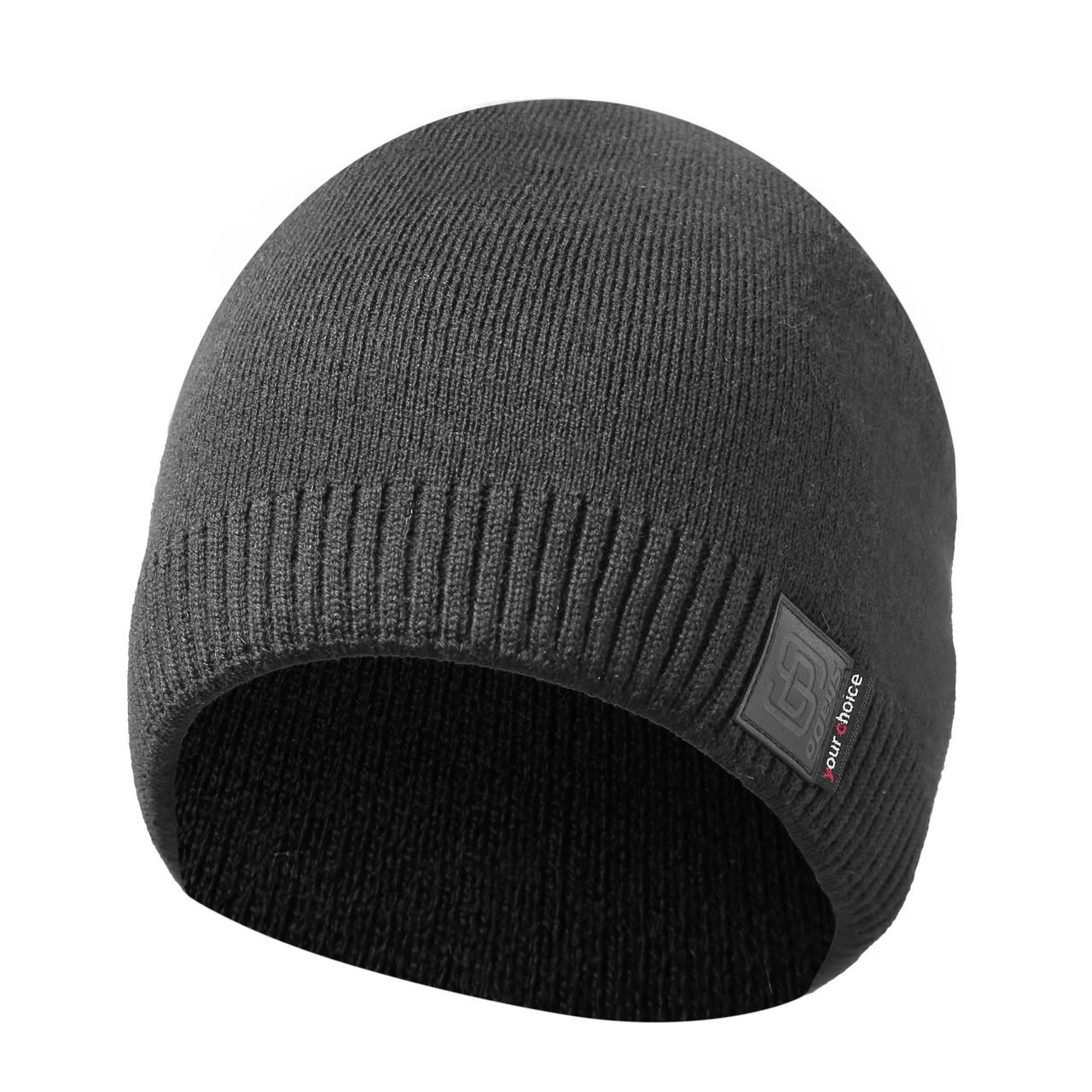 Зимняя мужская шапка очень теплая на флизе №70