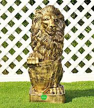 Садовая фигура Лев с левым и Лев с правым щитом большие, фото 2