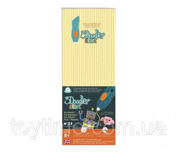 Набор стержней для 3D-ручки 3Doodler Start Кремовый  / Пластик для 3Д ручки 3Дудлер Старт стержни телесные