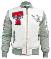 Бомбер Top Gun Stadium Varsity Jacket TGJ1636 (Cream)