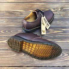 Мужские кожаные полуботинки/туфли в стиле Dr. Martens 1461 Brown, фото 2