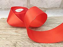 Лента красная атласная, 5 см, 1 метр-10 грн