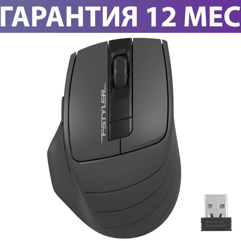 Беспроводная мышка A4Tech Fstyler FG30S 2000dpi черная/серая, USB, бесшумная (FG30S Grey), мышь для ноутбука