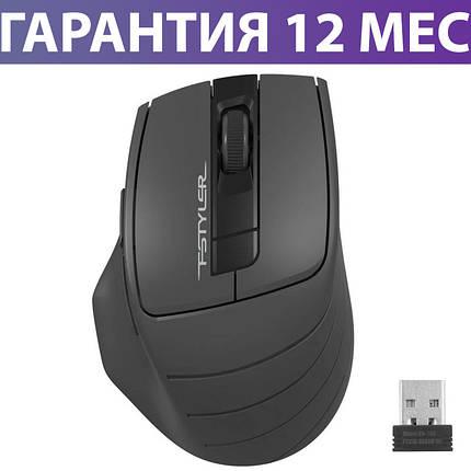 Беспроводная мышка A4Tech Fstyler FG30S 2000dpi черная/серая, USB, бесшумная (FG30S Grey), мышь для ноутбука, фото 2