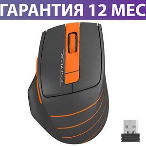 Беспроводная мышка A4Tech Fstyler FG30S 2000dpi черная/оранжевая, USB, бесшумная, мышь для ноутбука