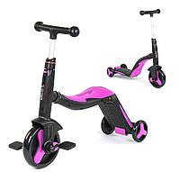 Детский велосипед (самокат) 3 в 1 JT 70708 ( розовый, от 3 до 8 лет.)