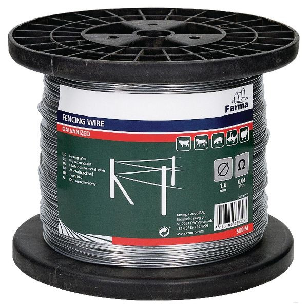 Проволока стальная оцинкованная 1,6 мм для электроизгороди (500 м на котушке)
