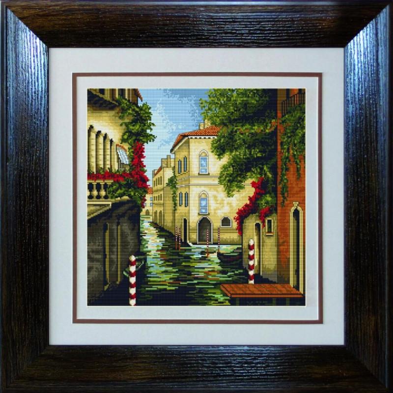 Наборы для вышивания крестом Luca S Пейзажи Венеция в цветах