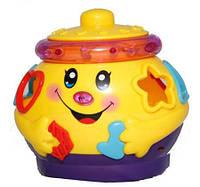 Музыкальный горшочек сортер детская игрушка 2056