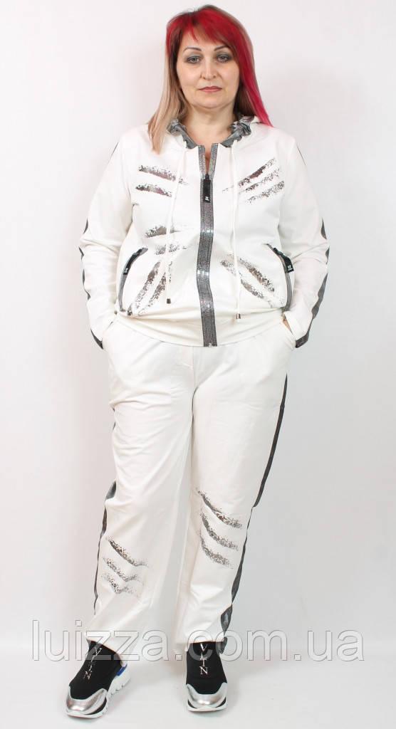 Жіночий костюм Darkwin (Туреччина) 52 - 66 р білий