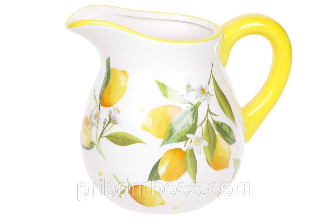 Кувшин керамический 1.2л Сочные лимоны